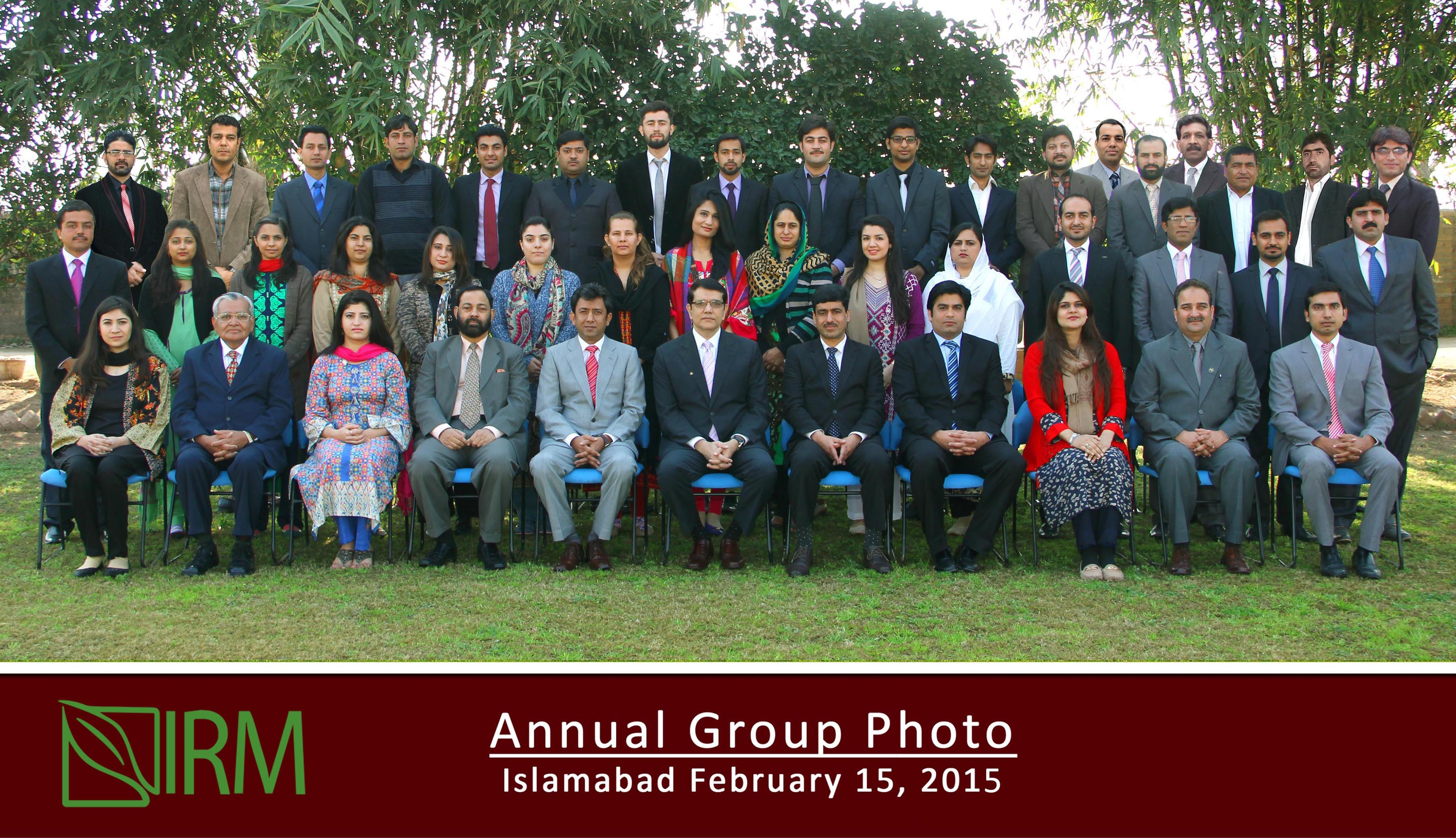 IRM Annual Group Photo 2015