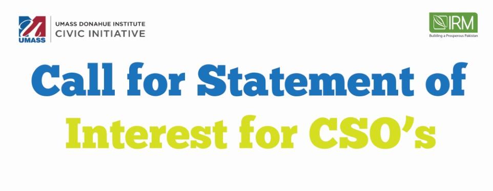 Statement of Interest for CSO strengthening