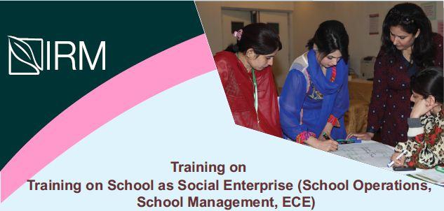 Announcement of Training on School as Social Enterprise