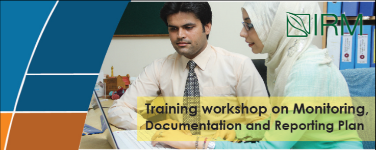 Training workshop on Monitoring, Documentation and Reporting Plan