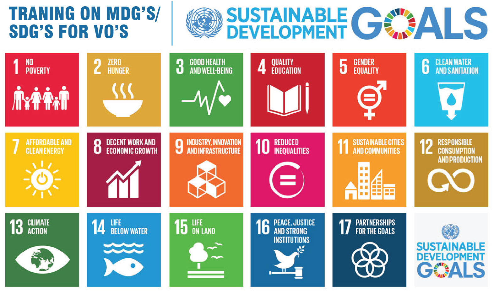 Announcement of Training on MDGs/SDGs for VOs.