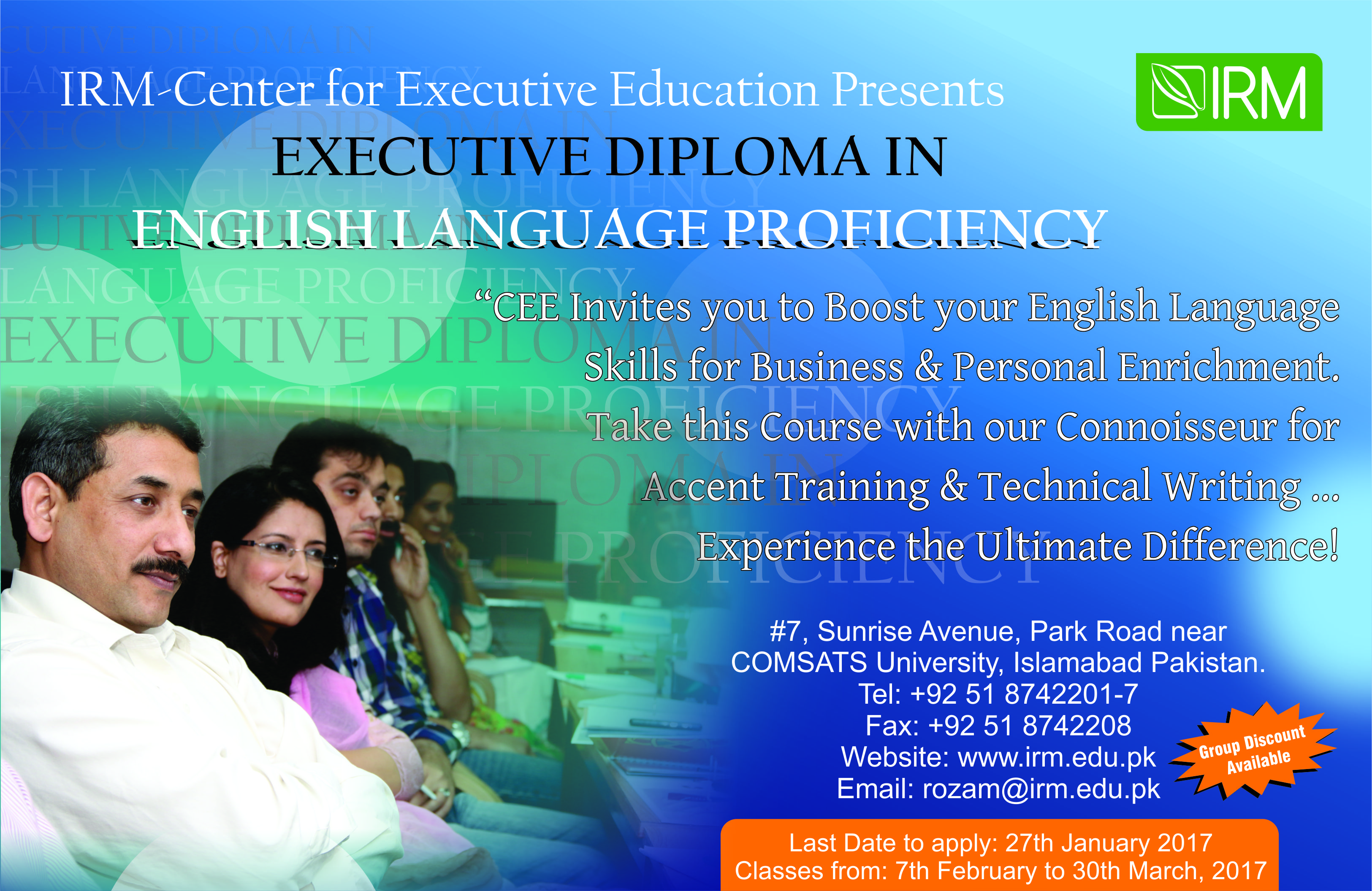 Executive Diploma in English Language Proficiency and Communication Skills Development