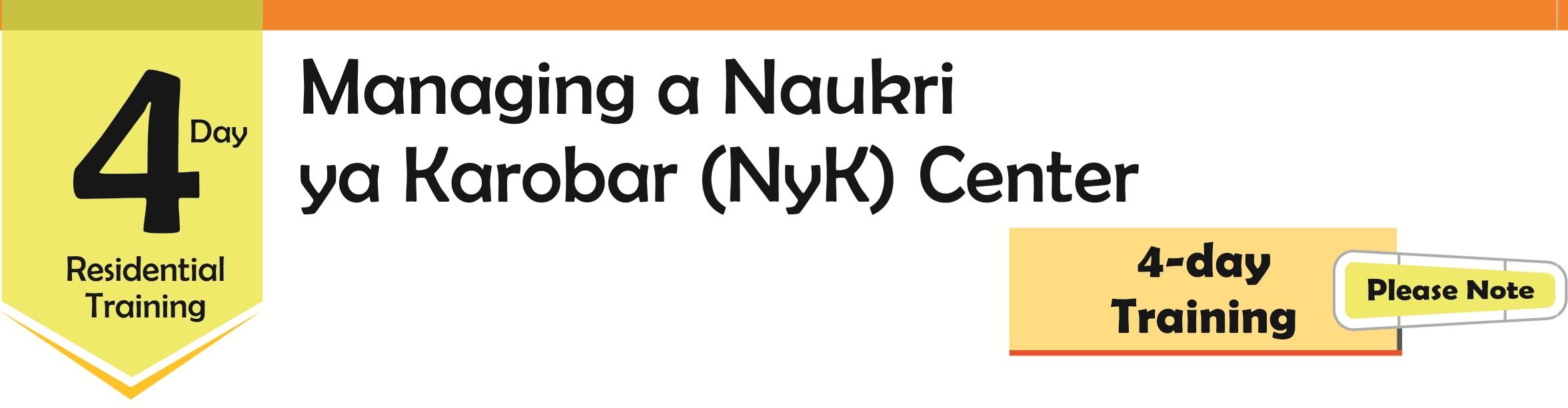 Naukri Ya Karobar (NYK) Center