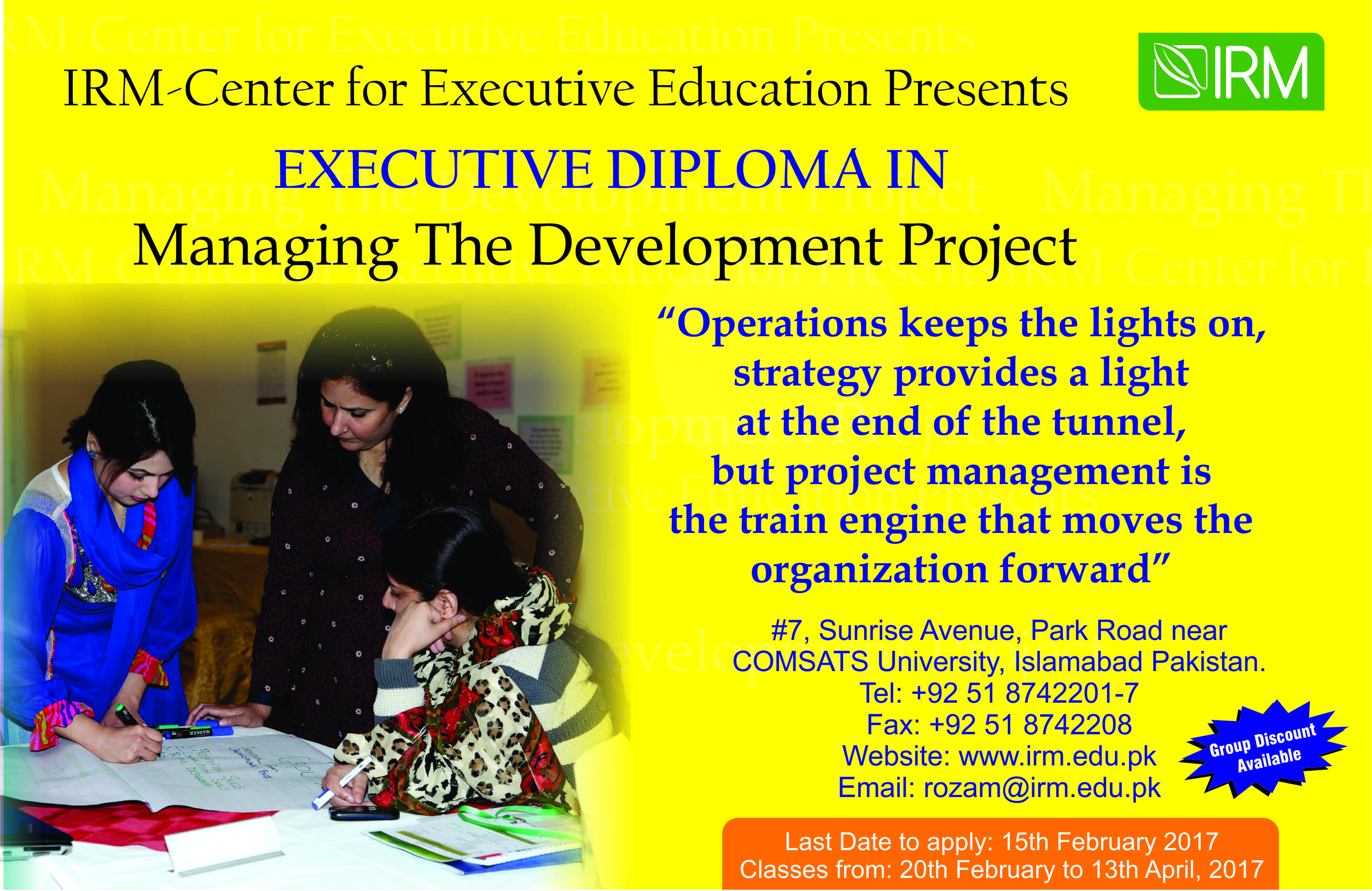 Executive Diploma in Managing The Development Project