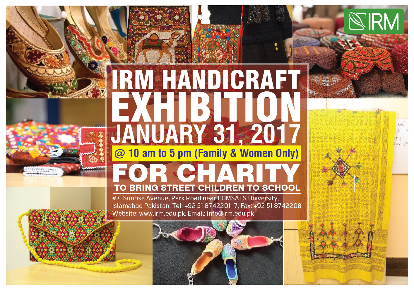 "IRM ""Exhibition of Local Craftsmanship"""
